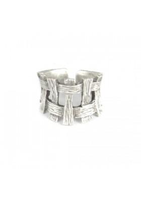 anello cesto intrecciato - stella by naturca