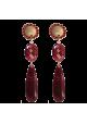 Orecchini in resina italiana con cabochon-MONILIROSS